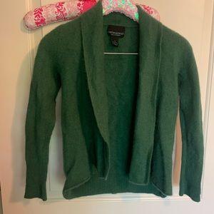 Cashmere Green Cardigan Sweater XS